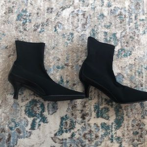Size 11 Black nylon ankle booties